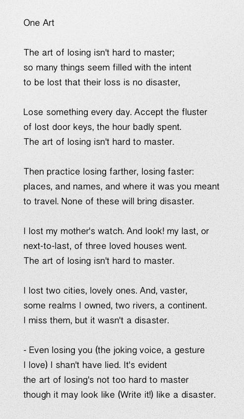 Elizabeth bishop poetry essay plan