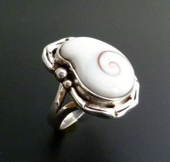 Sterling Silver Shiva Eye Ring  Handmade Silver Ring by fishsilver, $75.00