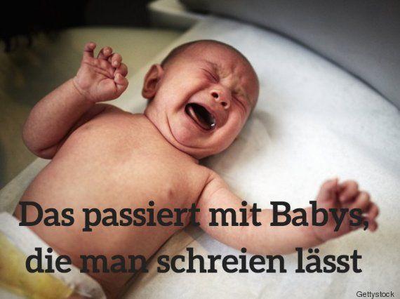 babys schreien lassen