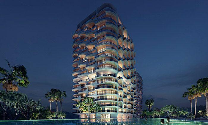 Mexiko staví tři bytové domy Alai od Zahy Hadid