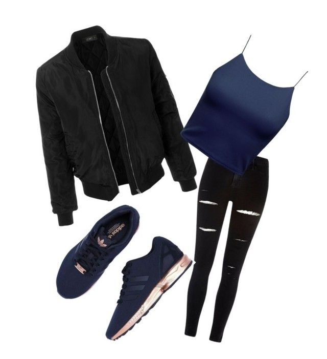 """""""Random"""" by jessfry10 on Polyvore featuring River Island, LE3NO and adidas"""