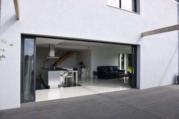 17 best ideas about baie vitr e coulissante on pinterest baie coulissante baie and baies vitr es for Porte vitree exterieure