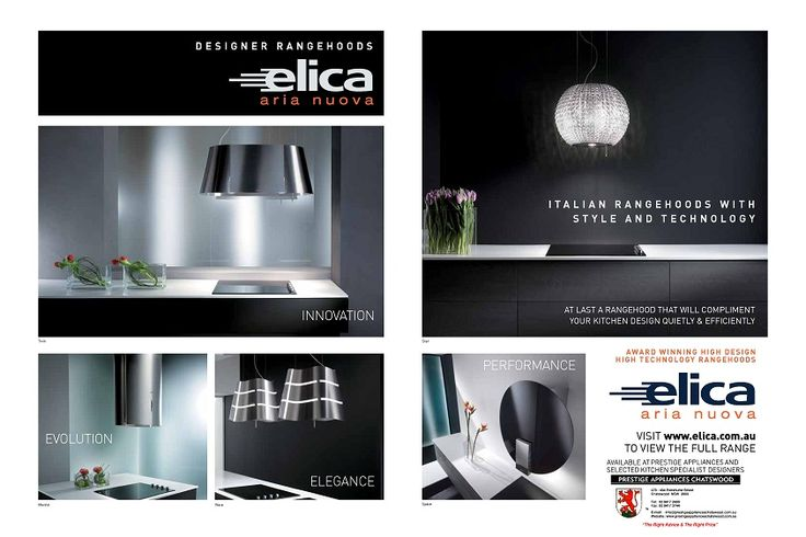 Product Update - Elica - Latest Trends in Designer Rangehoods - http://www.elica.com.au/