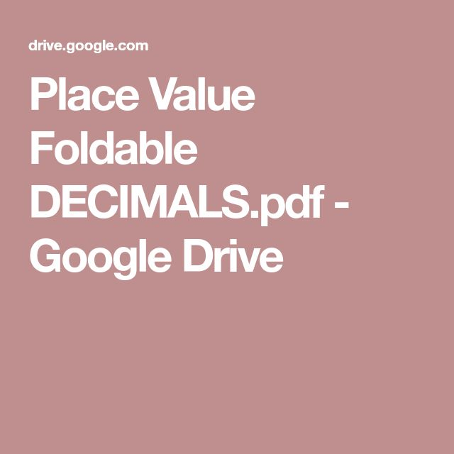 Best 25+ Place value foldable ideas on Pinterest Place value of - decimal place value chart