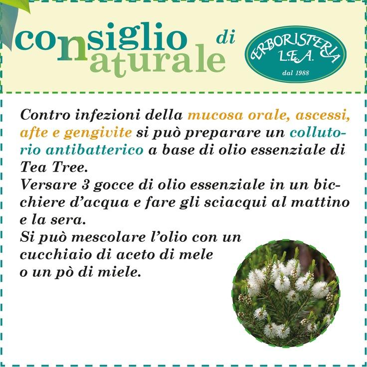 Consiglio naturale, collutorio antisettico con olio essenziale di Tea Tree