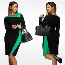 L-6XL Artı Boyutu Bandaj Elbise Ince Göstermek Ince 2016 Yeni Yaz/Sonbahar Zarif Casual Kadın Elbiseleri Ekstra Büyük Sıcak Satış(China (Mainland))