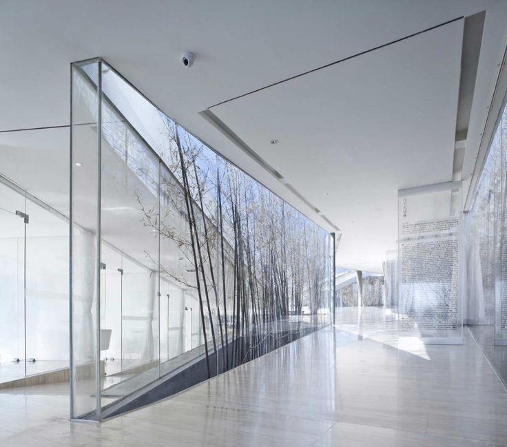 Glass wall: art/text
