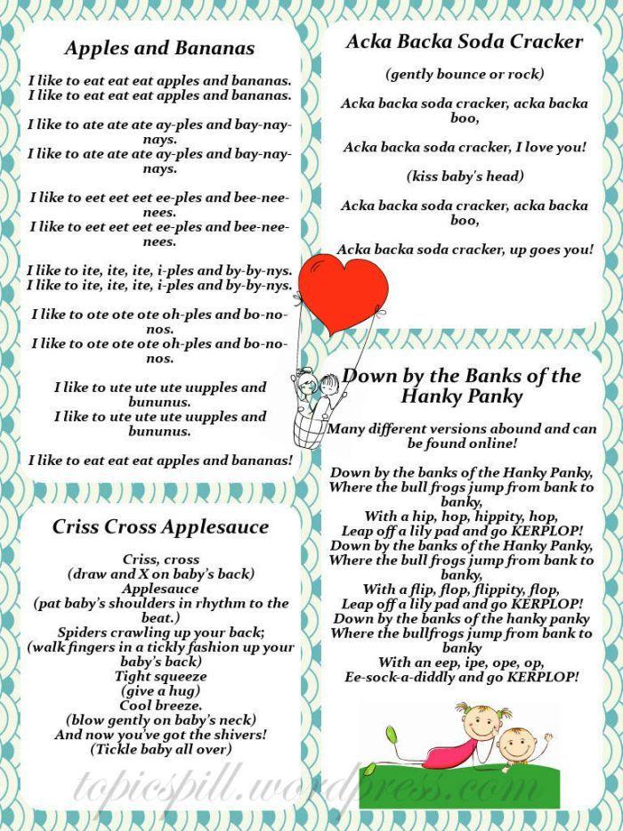 Lyrics containing the term: acka backa soda cracker by marylee