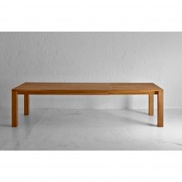 The Living Solid Oak Dining Table shown with two extensions #modern #furniture #dining #table