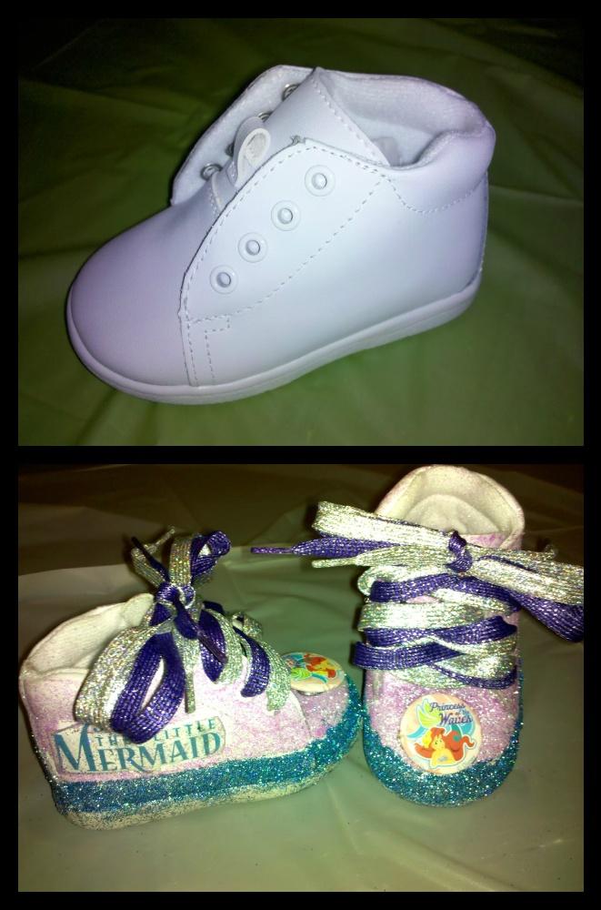 Custom made Little Mermaid shoes