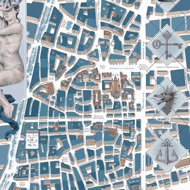 Walk With Me, mapas no convencionales de Barcelona : Passeig de Gràcia