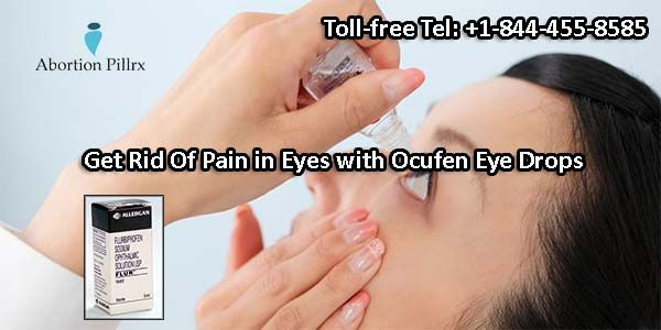 Ocufen is used worldwide by those patients who are suffering from pain, inflammation and swelling of eyes. Generic Flurbiprofen sodium is the main pharmaceutical ingredient found in this ophthalmic preparation. If you are also dealing with pain and inflammation in eyes then, buy Ocufen eye drops online from AbortionPillRx. For further assistance call us at our toll-free number: +1-844-455-8585.