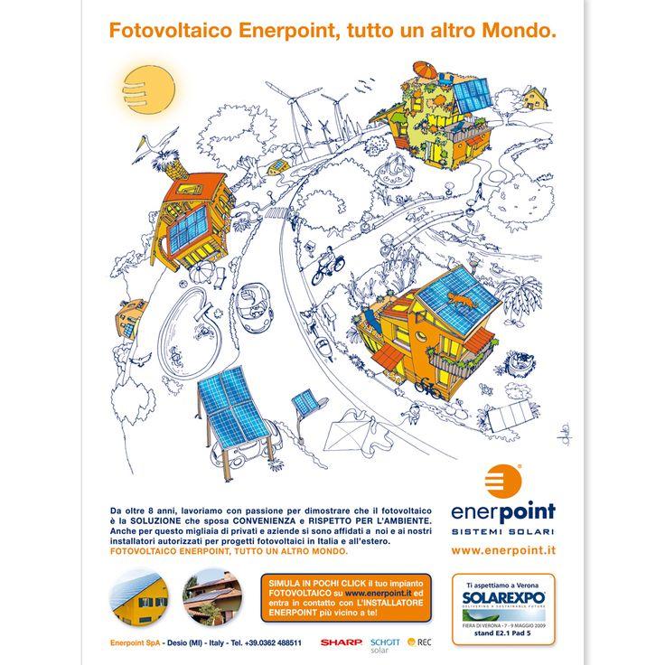 ENERPOINT Campagna 2009 - Illustrazione Carlo Stanga