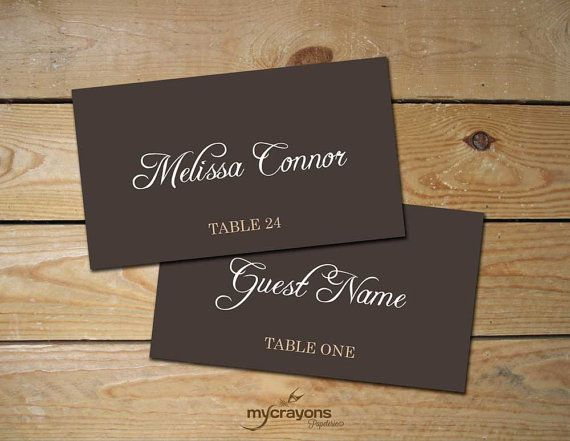 40 best Place Cards images on Pinterest Card patterns, Card - name card