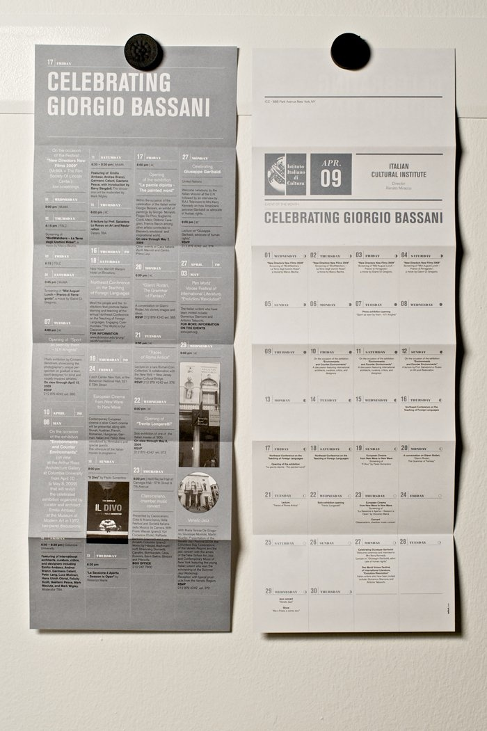 Clean brochure design. [brocure + calendar! sweet!]