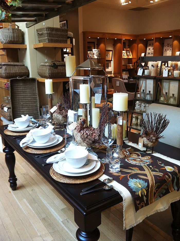 Rustic Pottery Barn Thanksgiving table, more my style...