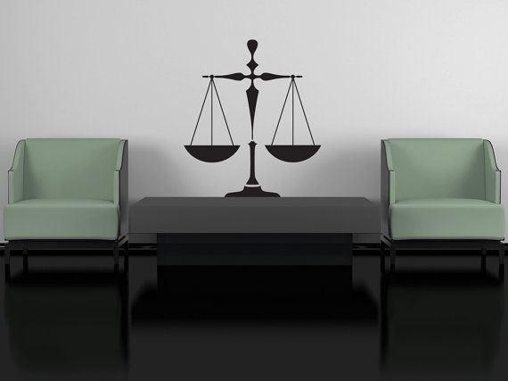 Scales of Justice Attorney at Law  Decal by VinylWallAdornments, $32.00