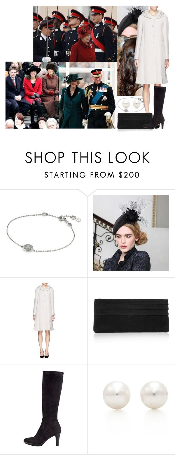 """Flashback #15: Attending her brother William's passing out parade at the Royal Military Academy Sandhurst (2006)"" by marywindsor ❤ liked on Polyvore featuring Links of London, Armani Collezioni, Lauren Merkin, Aquatalia by Marvin K., Tiffany & Co., women's clothing, women, female, woman and misses"