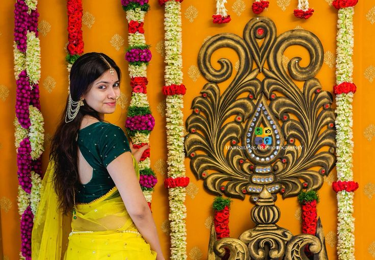 Telugu bride on her pelli kuthuru function
