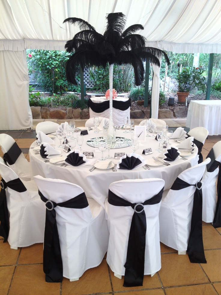 Black Feathers 18 best Table Centrepieces images