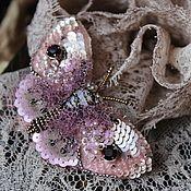 "Handmade Jewelry.  Fair Masters - handmade brooch ""frosty twilight.""  Handmade."