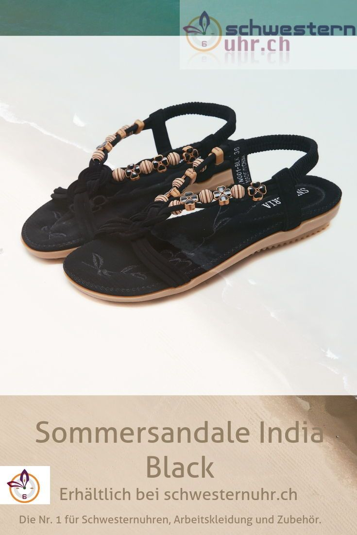 Sommersandale India Black In 2020 Sommersandalen Sandalen Bequeme Sandalen