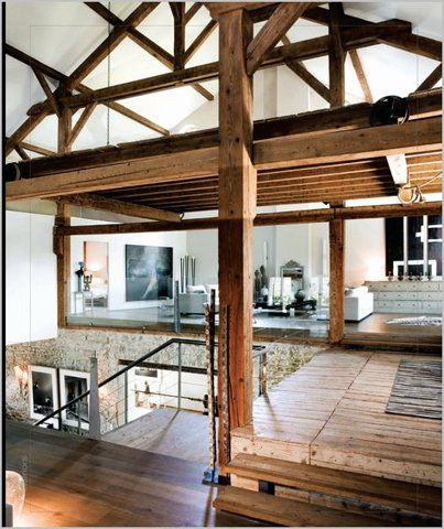 I'll live here any dayExpo Beams, Open Spaces, Interiors, Wood Wood, Loft Spaces, Bachelor Pads, Loft Apartments, Loft Design, Wood Beams