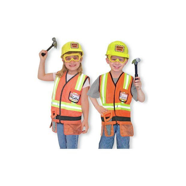 Buy Melissa and Doug Construction Worker Role Play at Argos.co.uk - Your Online Shop for Children's fancy dress costumes, Children's fancy dress, Role play, Toys.