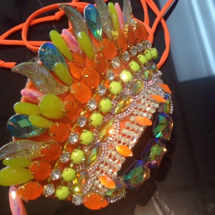 Festival wirebra in D cup in multicoloured combination #gingerwirebras