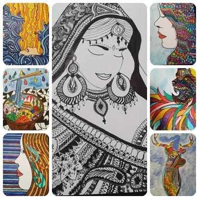 8. sınıf öğrencilerimizle Görsel Sanatlar dersimizde çizgilerle renkleri birleştirip tasarımda buluşturduk. Özellikle sanat elementlerinden çizgi ve renk konusunu kavramaları sanatsal çalışmalarda önemli bir yer tutmaktadır.