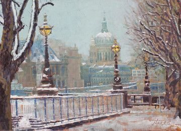 St Paul's Cathedral In The Snow by Rolf Harris