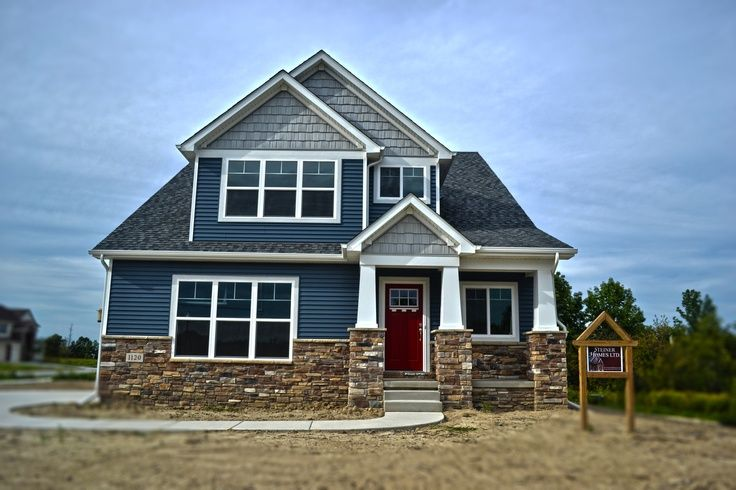 Blue Siding And Stone Combinations Yahoo Image Search Results House Exterior Blue Outside House Colors House Paint Exterior