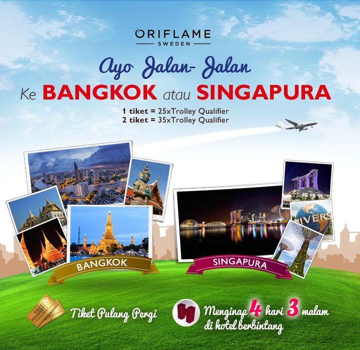Perjalanan ke Bangkok/Singapura | Oriflame Cosmetics