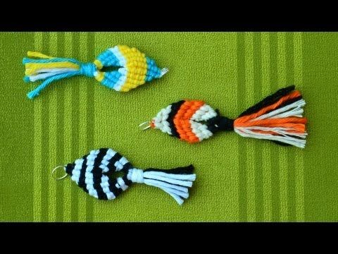 Fácil Macrame Pescado  http://www.macrameschool.com/resources/projects/95-easy-macrame-fish
