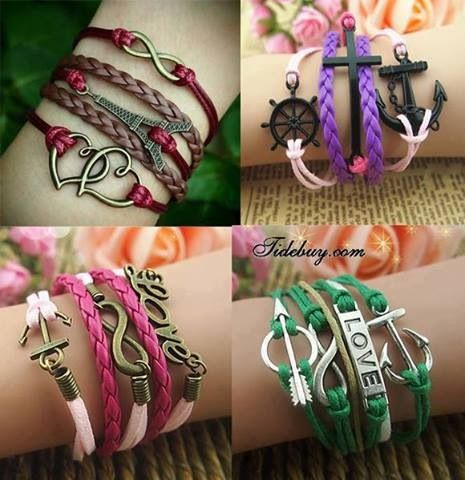 933 best brazaletes y gargantillas images on pinterest bracelets easy diy bracelet ideas solutioingenieria Images