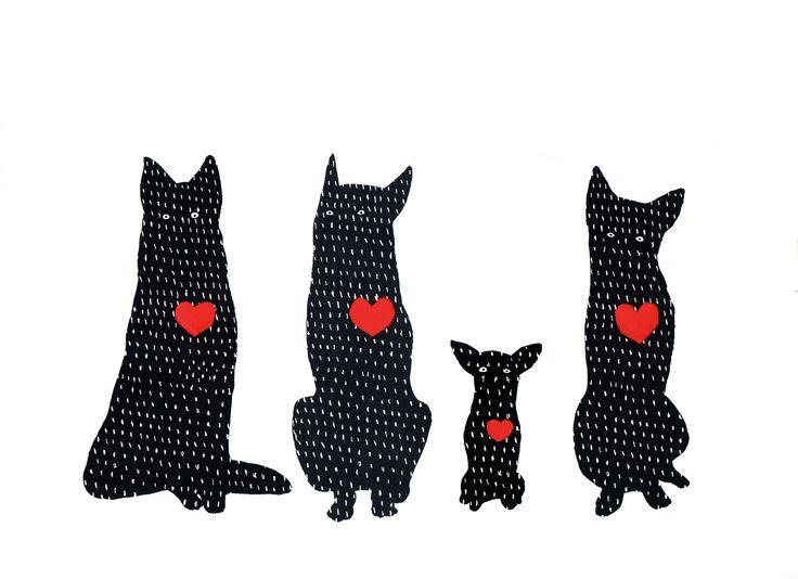 ilustration for animal shelter advertising version1