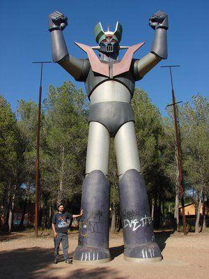 Mazinger-Z Estatua en Tarragona