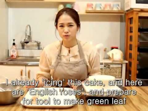 How to make Flower cake. #1 (full process) by g.g cakraft - YouTube