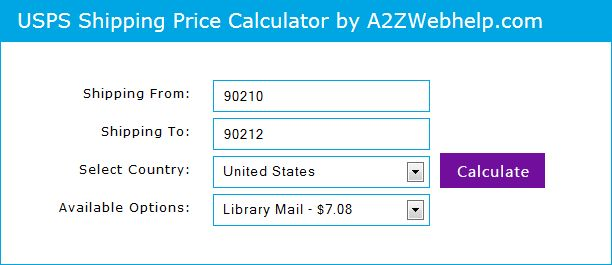 Php Jquery Shipping Price Calculator Calculate Ups Usps And