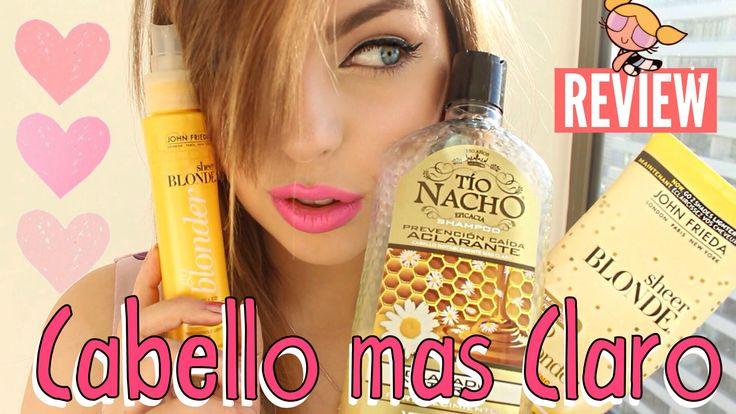 ¿Funcionan? PRODUCTOS PARA ACLARAR EL CABELLO! | Review: Tio Nacho, Go B...
