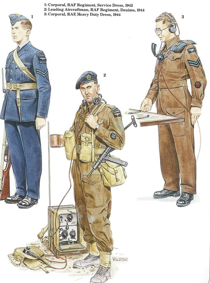 R.A.F. 1 Corporal, RAF Regiment, Service Dress, 1942 2