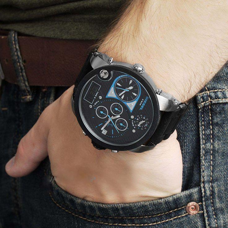 Men's Diesel Mr.Daddy watch Chronograph with black dial DZ7278 #Diesel #Watches #wristwatch #Chronograph