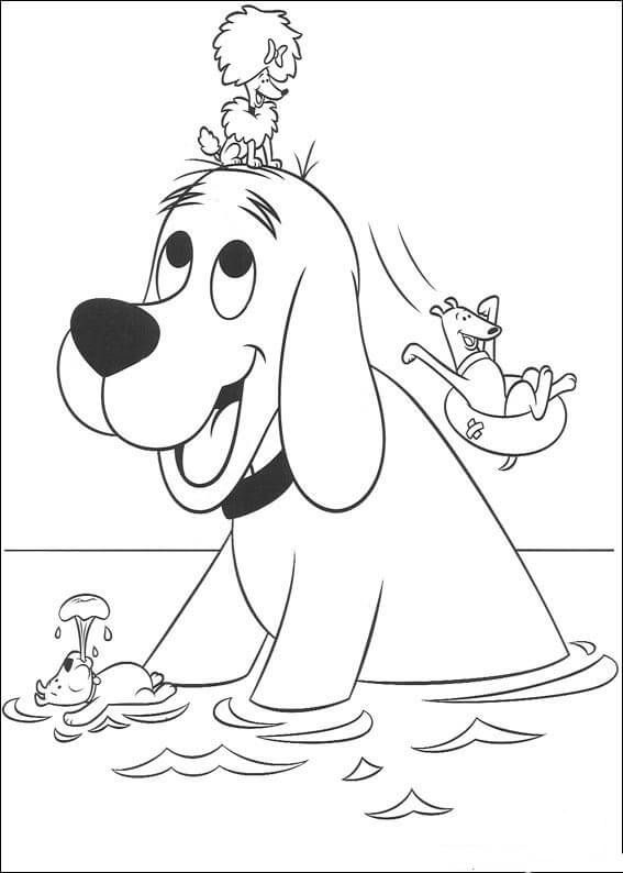 Clifford Coloring Pages - Worksheet School in 2020 | Dog ...