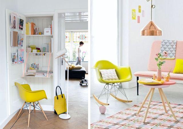 D coration id e inspiration avec chaise fauteuil bascule for Chaise a bascule rar blanche eames