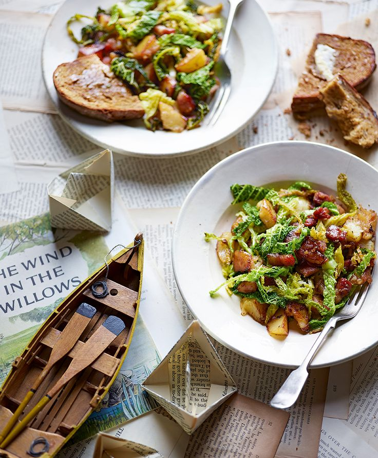 Our bubble and squeak recipe is inspired by Kenneth Grahame's <i>The Wind in the Willows</i> in which Toad enjoys the scramble of cabbage and potatoes with hot buttered toast.