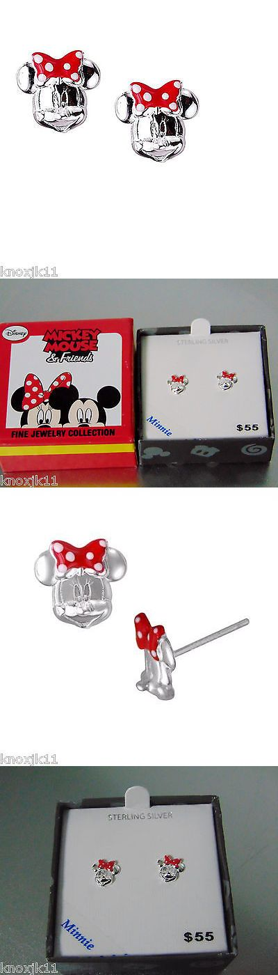Earrings 98476: New Disney Sterling Silver Minnie Mouse Earrings Polka-Dot Bow Childrens Studs -> BUY IT NOW ONLY: $39.52 on eBay!