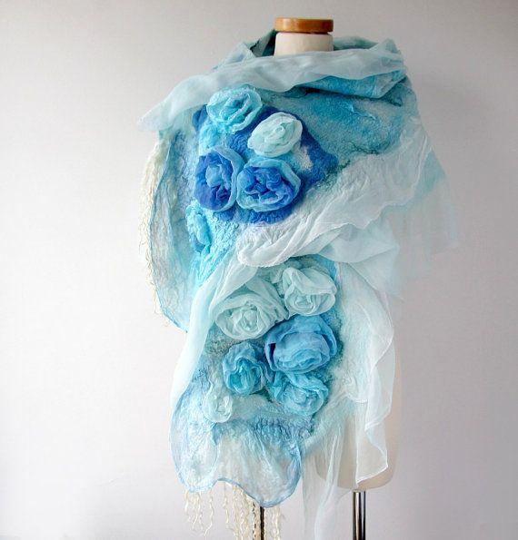 http://polandhandmade.pl/  #polandhandmade #scarf #felting