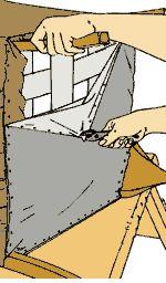 Удаление старого обивочного покрытия: Снятие противопылевого покрытия из льняного батиста