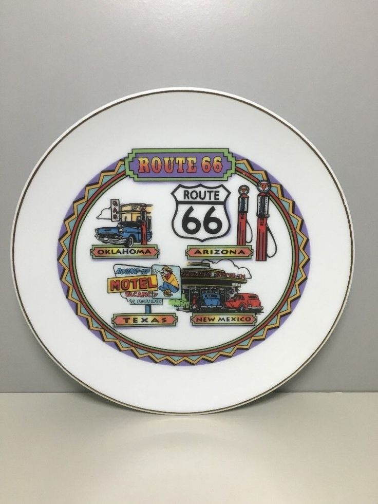 Route 66 Collector Plate Decorative Arizona New Mexico Texas Oklahoma & 7 best country plates images on Pinterest | Country Dinner plates ...