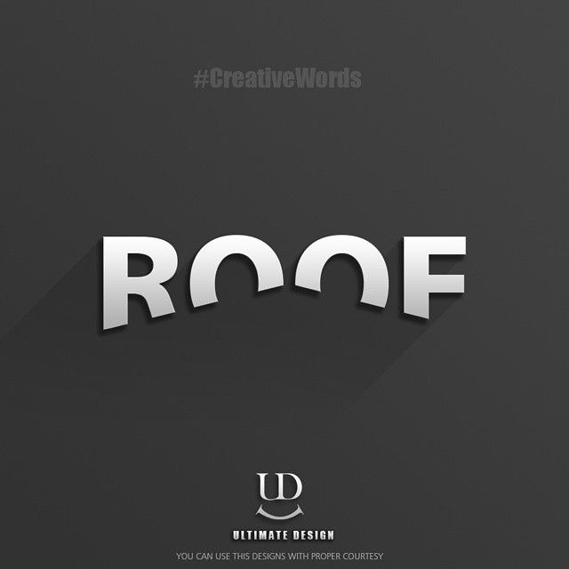 Verbicon Roof By Ultimate Design S4in 23 Roofing Logo Logo Design Creative Logo Word